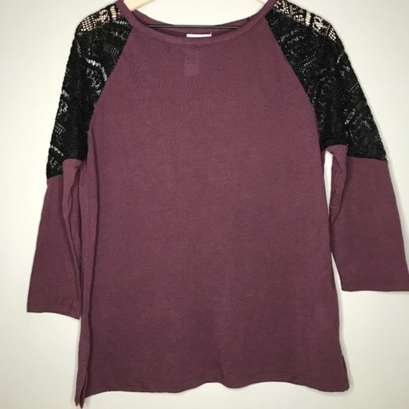 HP - Old Navy Boho Lace Shoulder Top - Small NWT